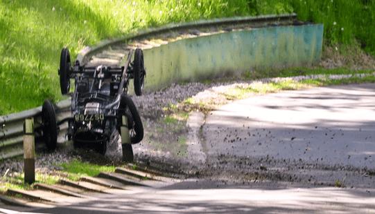 Classic Bugatti crash
