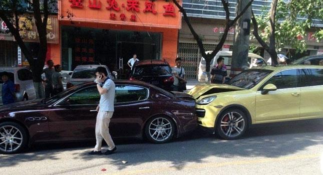 Women crashing cars