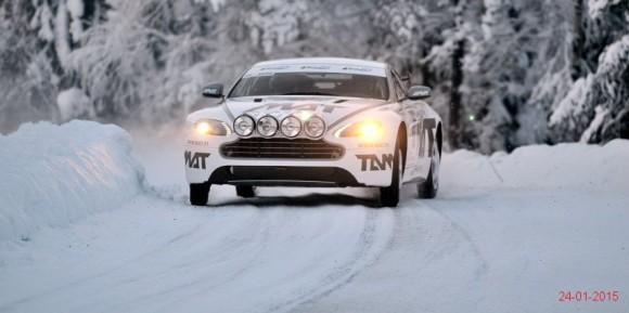 Aston Martin rally car