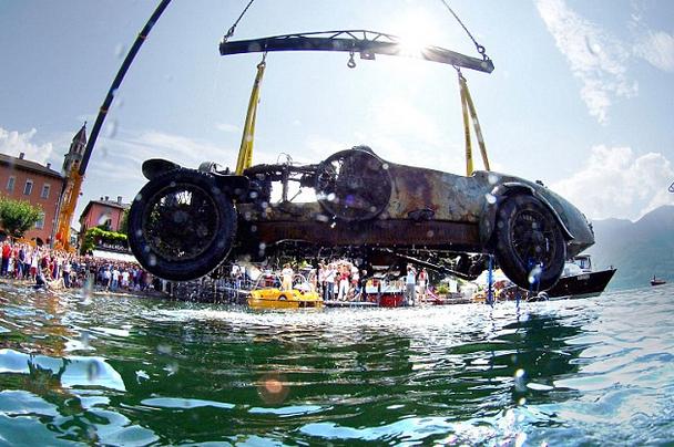 Bugatti from the lake