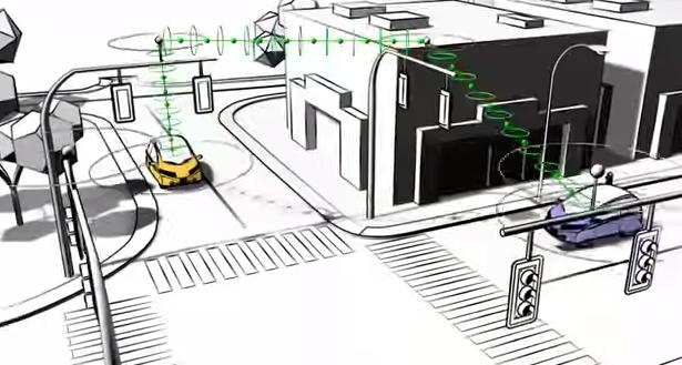 Driverless car city